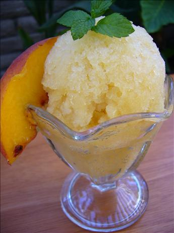 Easy Peach Sherbet