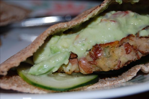 Falafel W/ Avocado Spread - Veggie Burgers W/ Guacamole