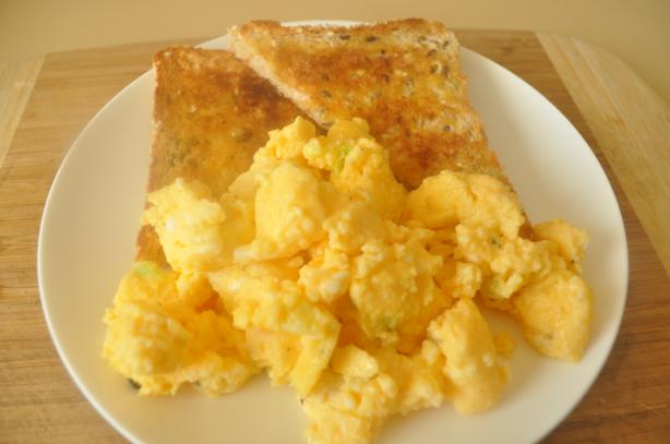 Buttery Microwave Scrambled Eggs for Two