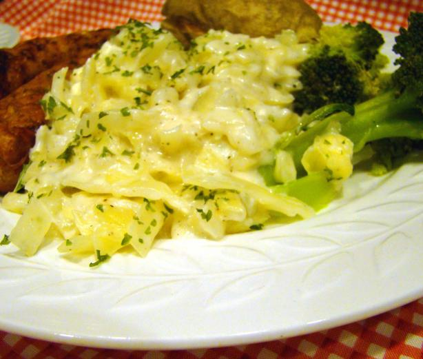 Creamed Cabbage With Feta