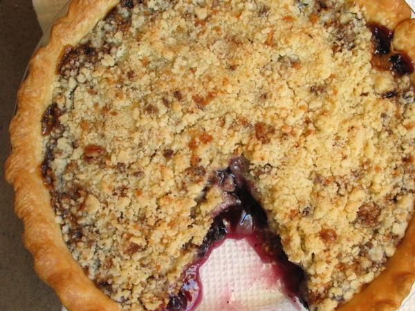 Almond Roca Fruit Pie (A K A: Toffee Crumb Fruit Pie)
