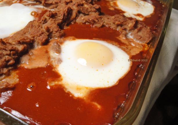 Breakfast Enchilada Eggs