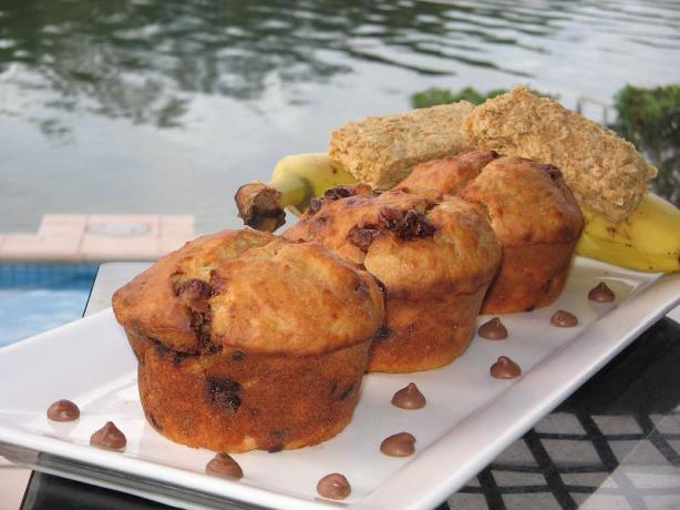Banana Weet-Bix Choc Chip Muffins