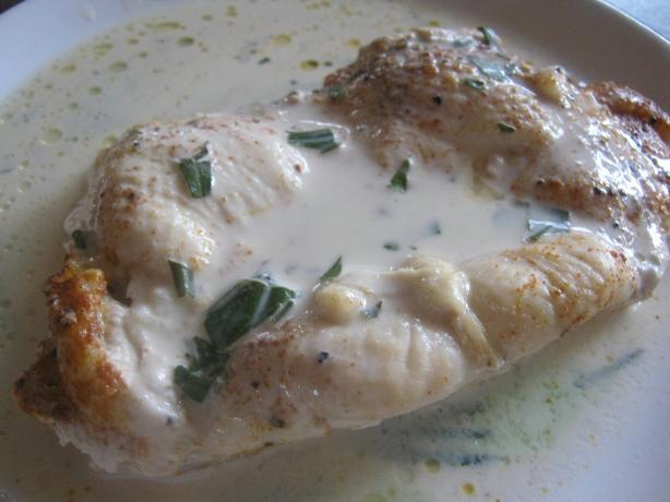 Sauteed Chicken in Mustard-Cream Sauce