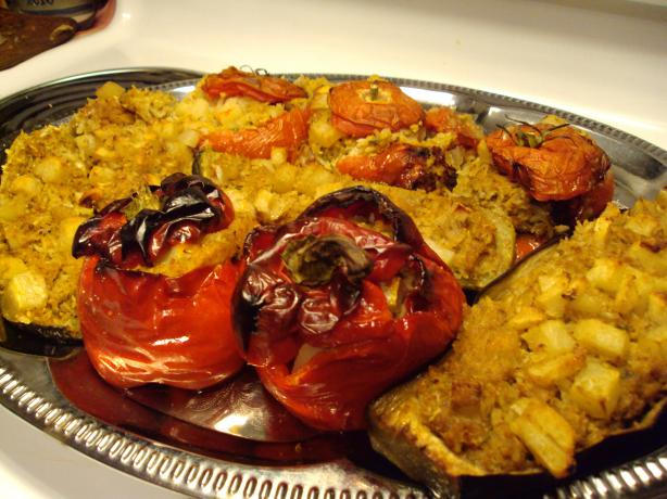 Mum's Yemista (Greek Stuffed Vegetables With Rice)