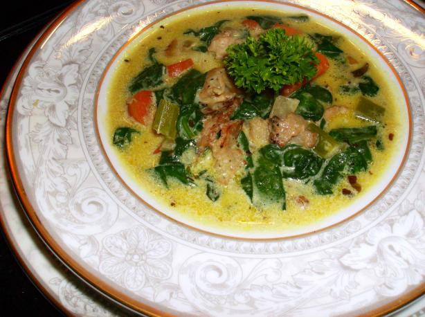 Quick and Easy Curried Turkey Soup