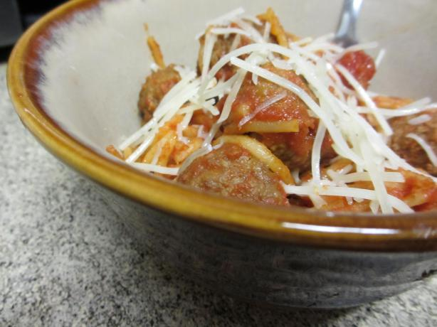 Crock Pot Spaghetti and Meatballs