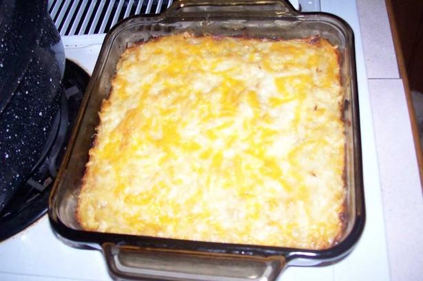 Easy Cheesy Golden Potato Squares