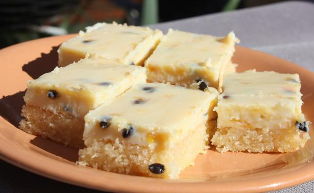 Easy Passionfruit Slice / Bars