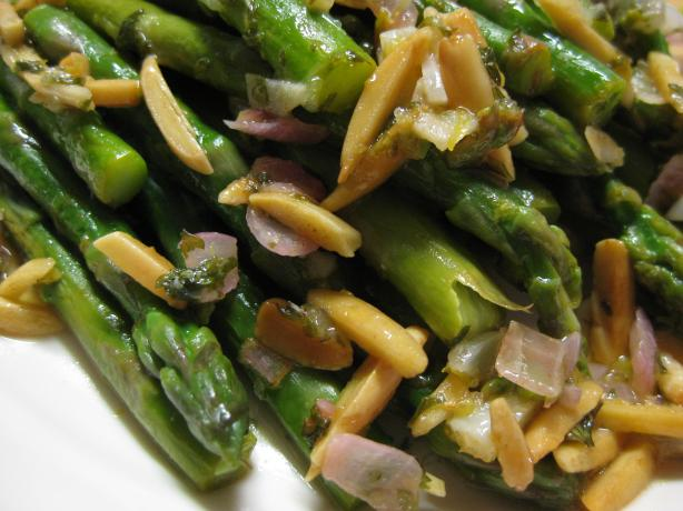 Steamed Asparagus With Almond Butter