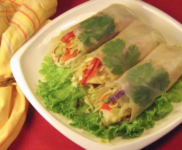 Cold Vegetarian Spring Rolls