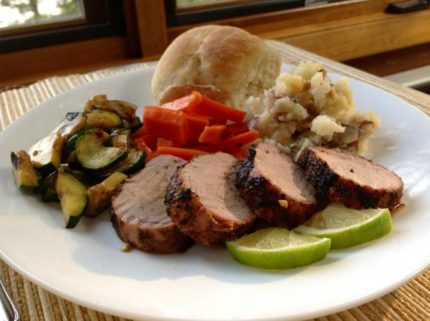 Chile and Spice-Rubbed Pork Tenderloin With Honey-Lime Glaze