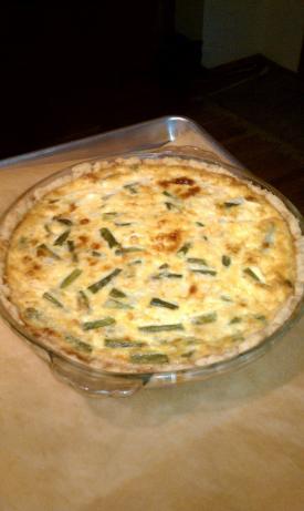 Asparagus Cheddar Quiche