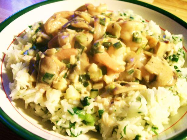Sour Cream Shrimp Curry