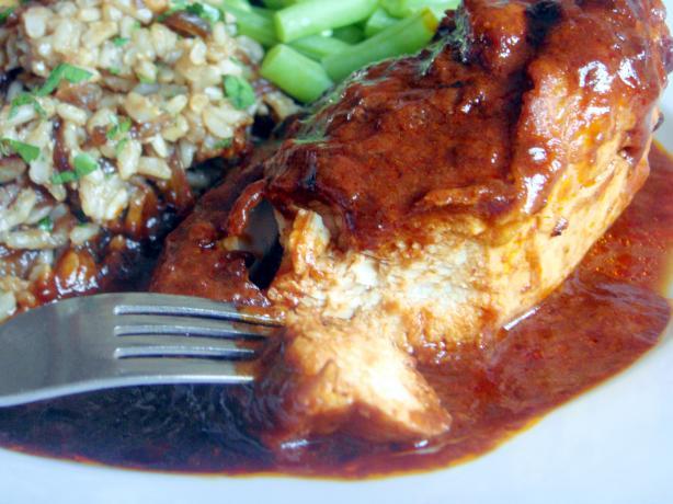 Savory Chicken in Raspberry Cream Sauce