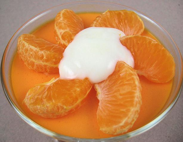 Orange Velvet Gelatin-Yogurt Mousse
