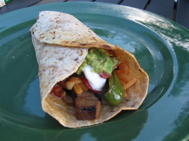 Steak Fajitas--Recipe and Method