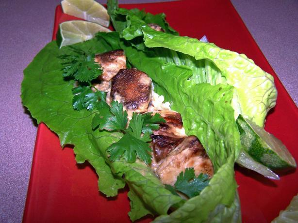 Ginger Chicken and Peanut Sauce Wraps