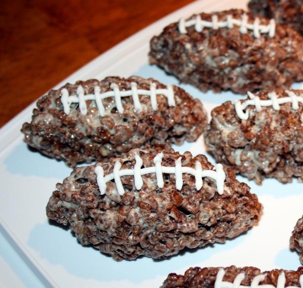 Cocoa Krispie Football Treats