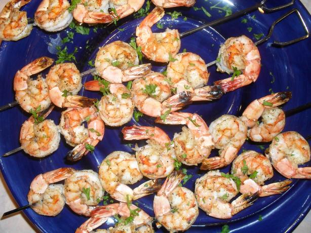 Barbecued Prawns (Shrimp) With Mustard Dipping Sauce