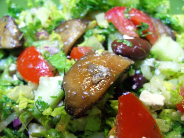 Warm Mushroom Salad With Feta