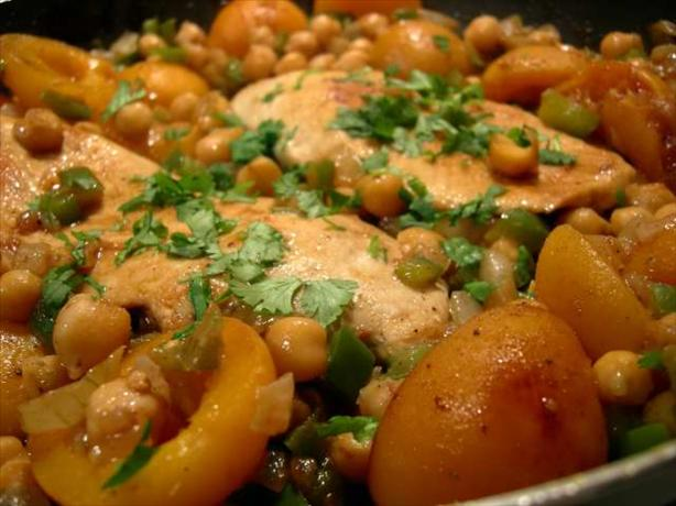 Chicken & Chickpeas in Apricot Syrup Reduction