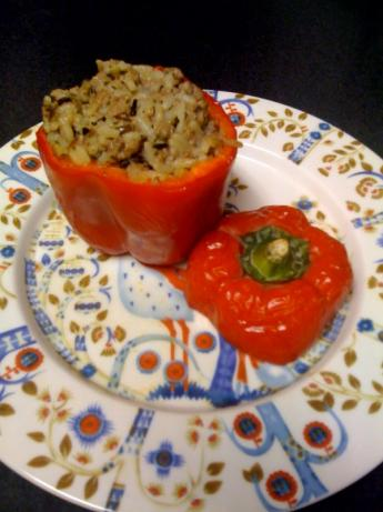 Stuffed Thyme Bell Peppers