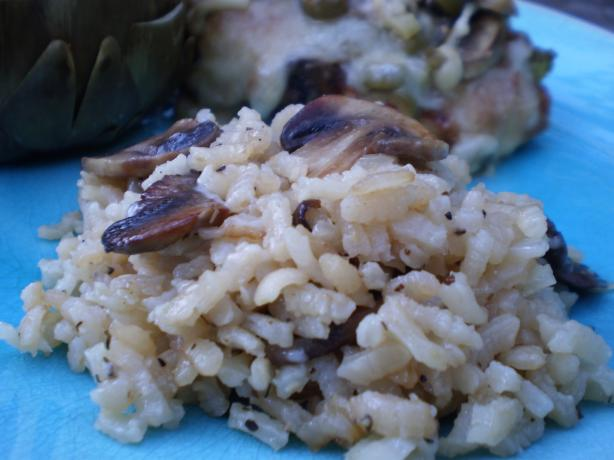 Mushrooom Thyme Risotto Also Known As Arborio Rice