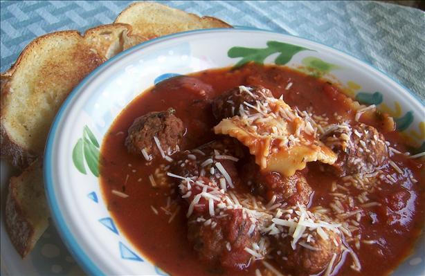 Meatball and Ravioli Soup
