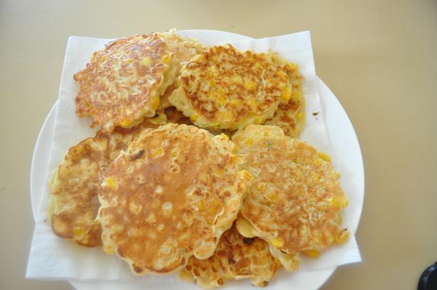 2-Minute Noodle Corn Pancakes
