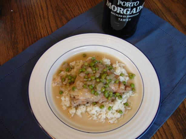 Portuguese Chicken With Peas (Frango Com Ervilhas)