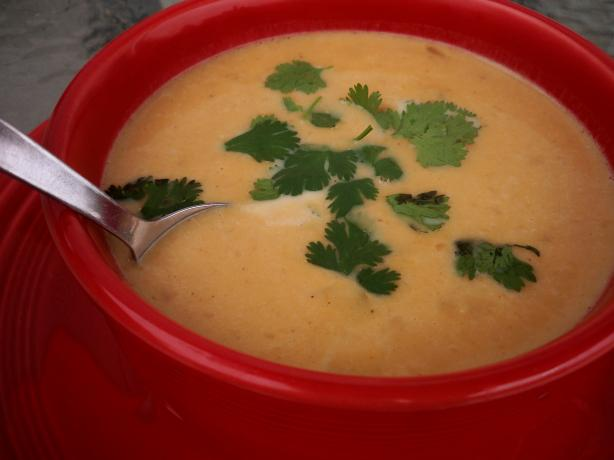 Creamy Roasted Yam Soup