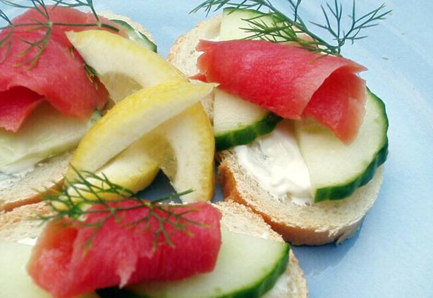 Open-Faced Salmon Tea Sandwiches