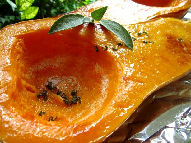Roasted Winter Squash With Browned Butter and Sage