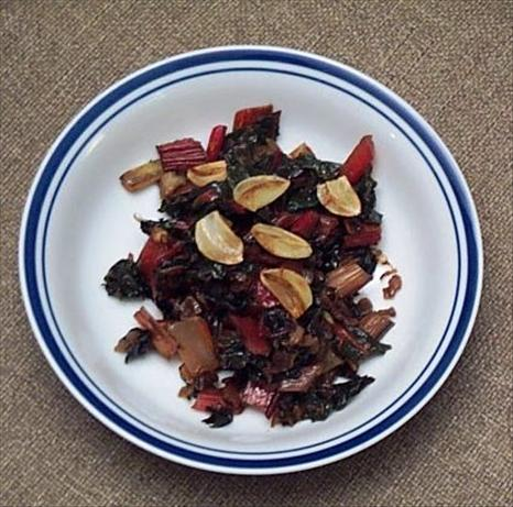 Sauteed Swiss Chard with Red Onions