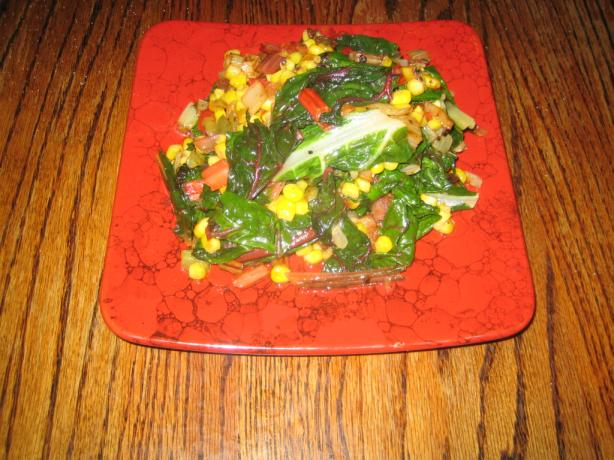 Sauteed Swiss Chard and Corn