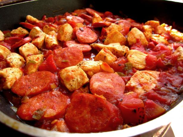 Cajun Chicken and Sausage Saute