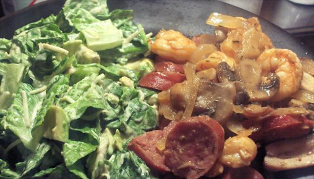 Southwestern Caesar Salad with Chipotle Dressing