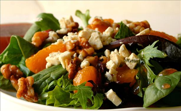 Toasted Walnut Salad With Mandarin Oranges and Gorgonzola Cheese