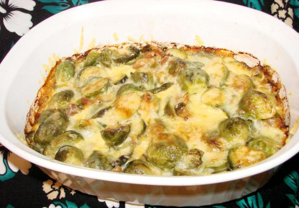 Smokey Brussels Sprouts Bake