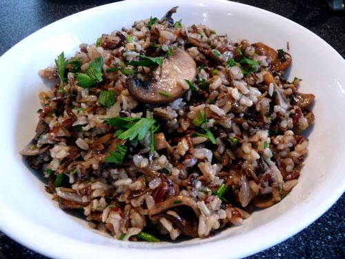 Wild Rice With Cremini Mushrooms