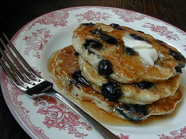 Blueberry Buttermilk Oatmeal Pancakes