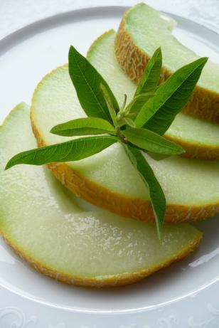 Fresh Fruit With Lemon Verbena Simple Syrup