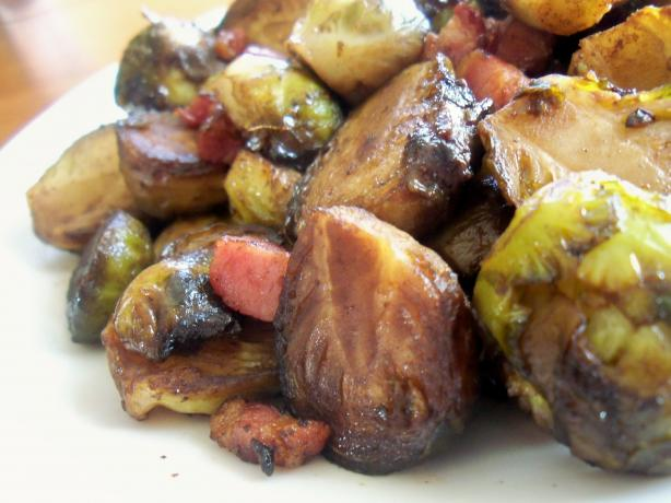 Brussels Sprouts in a Balsamic Glaze With Pancetta