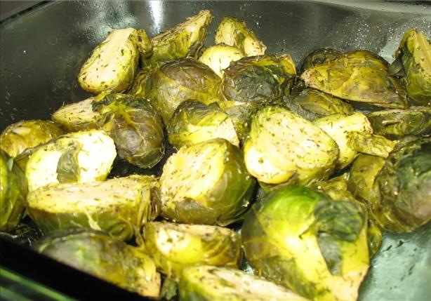 Braised Brussels Sprouts With Vinegar and Dill