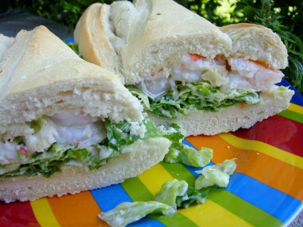 Shrimp Caesar Sandwich