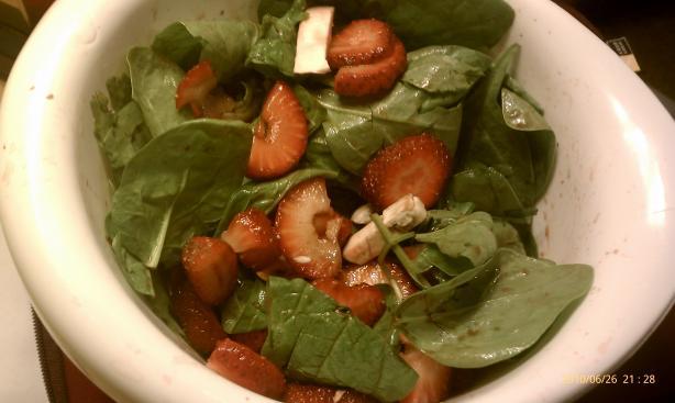 Strawberry, Mushroom, and Spinach Salad