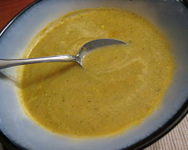 Curried Apple and Zucchini Soup