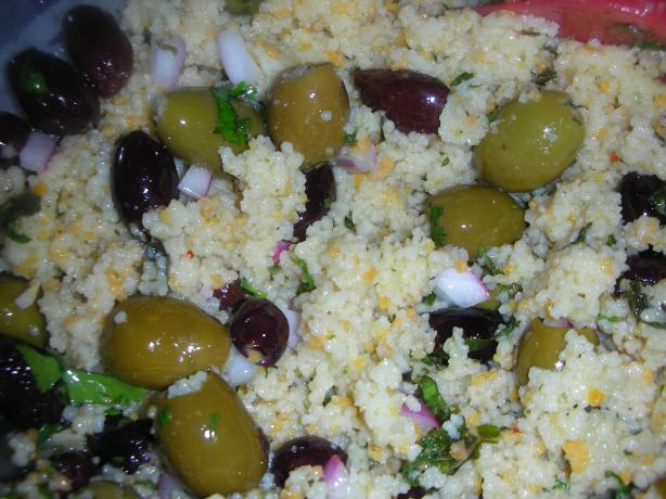 Olive Couscous Salad (Moroccan for ZWT-9)