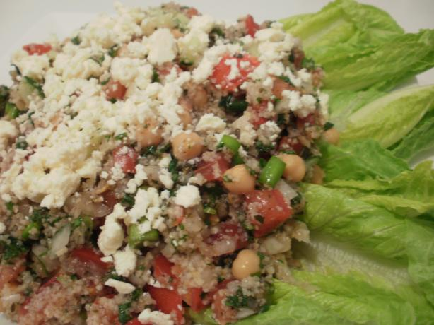 Tabbouleh Wrapped in Romaine Leaves